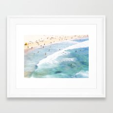 Lazy Daze at Bondi Framed Art Print