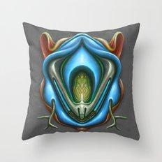 Summer Totem Blue Throw Pillow