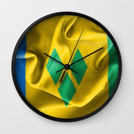 Saint Vincent and the Grenadines Flag Wall Clock
