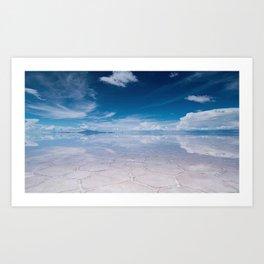 Salt Flats of Salar de Uyuni, Bolivia #1 color photography / photographs Art Print