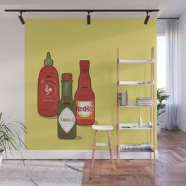 The Hot Sauces Wall Mural
