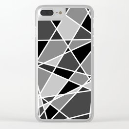 Shattered Charcoal Clear iPhone Case