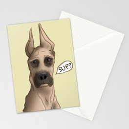 Great Dane: SUP? Stationery Cards