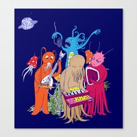 space jam Canvas Prints featuring Space Jam by Morbid Illusion