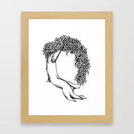 "Native Texas Plants ""Q"" Framed Art Print"