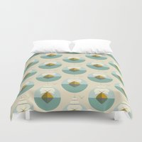 sailboat Duvet Covers featuring Sailboat by FLATOWL