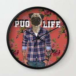 Pug Life Wall Clock