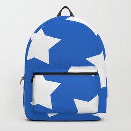 Cheerful Blue Star Print Backpack