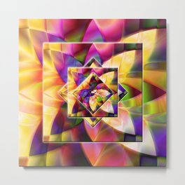 Number 1 Abstract by Mark Compton Metal Print