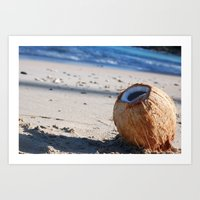 coconut wishes Art Prints featuring Coconut. by TabathaYoast