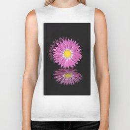 """Reflections"" - Pink Everlasting Flower Biker Tank"