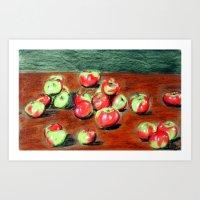 Bushel Of Appels Art Print