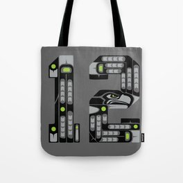 Seattle 12th Man - Black Tote Bag
