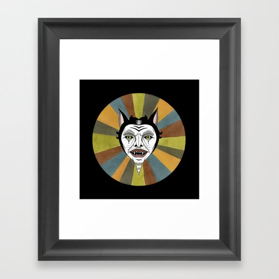 Cat Color Wheel No. 1 Framed Art Print