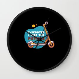 EScooter I Ride The Future Wall Clock