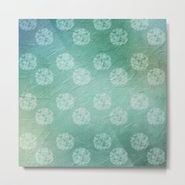 Vintage Pretty Dotted Pattern Blue Metal Print