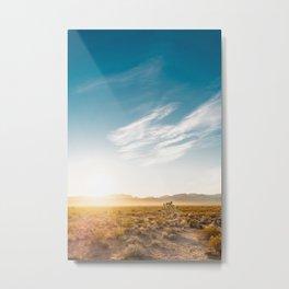 Nevada Desert Sunrise Metal Print
