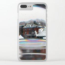 Portland Snow Globe (1) Clear iPhone Case