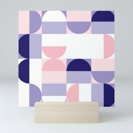 Minimal Bauhaus Semi Circle Geometric Pattern 2 - #bauhaus #minimal Mini Art Print