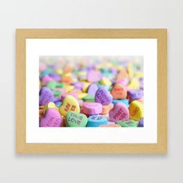 Valentine's Day Candy Hearts Framed Art Print