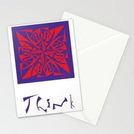 Think - Purple Red Stationery Cards