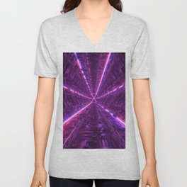 Purple Tunnel Unisex V-Neck