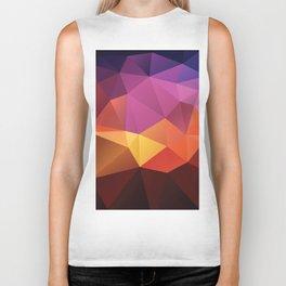 Abstract geometric triangle background Biker Tank