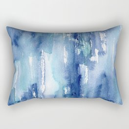 Blue vibes #2 || watercolor Rectangular Pillow