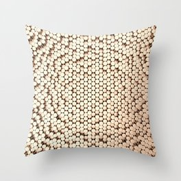 Pattern of brushed copper cylinders Throw Pillow