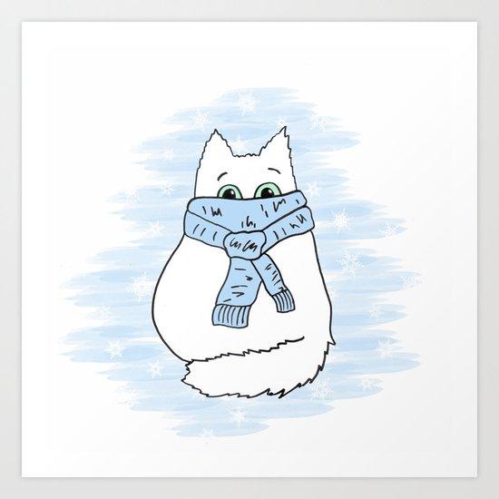 Cartoon cat. Art Print
