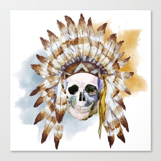Skull 02 Canvas Print