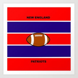 Patriots, AFC, Eastern Division, New England Art Print