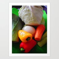 vegetables Art Prints featuring Vegetables by LoRo  Art & Pictures