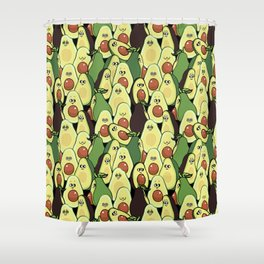 Social Avocados Shower Curtain
