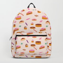 Sweets,cakes and coffee pattern Backpack