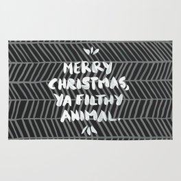 Merry Christmas, Ya Filthy Animal – Black Rug