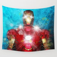 ironman Wall Tapestries featuring I Am Ironman by André Joseph Martin