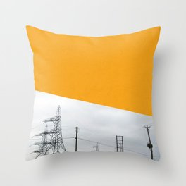 Orange Pylons Throw Pillow