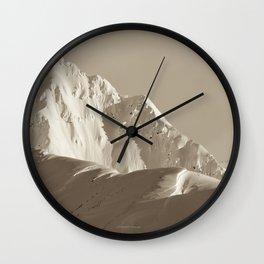 Alaskan Mts. - Mono I Wall Clock