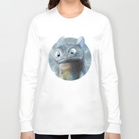 toothless Long Sleeve T-shirts featuring Toothless by Luke Jonathon Fielding