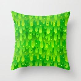 Radioactive Slime Throw Pillow