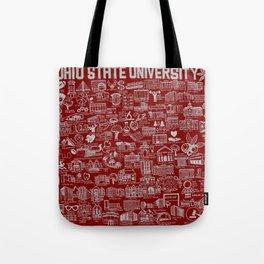 Ohio State University Map Tote Bag