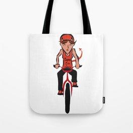 Devil woman cycling Tote Bag