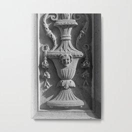 New York Ornate Carving Metal Print