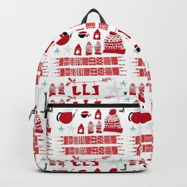 winter gear white Backpack