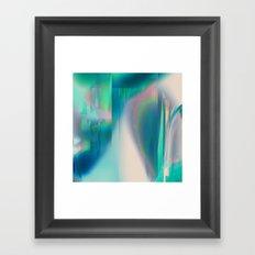 Pacifica glitch Framed Art Print