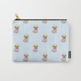 Pug dog in a clown costume pattern Carry-All Pouch