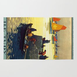 Ile Tudy-Finistere, French Travel Poster Rug