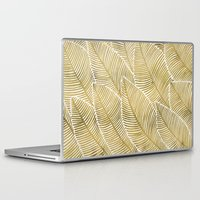 tropical Laptop & iPad Skins featuring Tropical Gold by Cat Coquillette