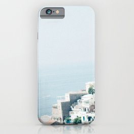 Positano landscape with white flowers iPhone Case